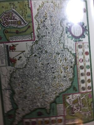 The North And East Riding Of Yorkshire Map Reprint 1610