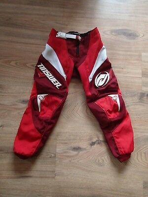 Answer Kids' Motocross Trousers (Red, Size 20 Youth, approx. 3-4 years)