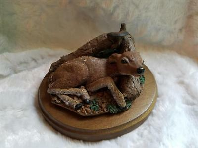 1982 Deer Fawn Under Mushroom - Marty Fine Collectible by Martha Carey SIGNED