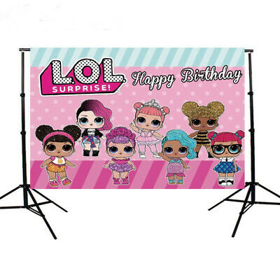 LOL Surprise Kids Birthday Party Photography Backdrop Girl Photo Background