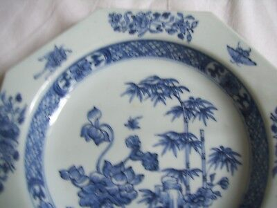 Antique Hexagon Chinese plate