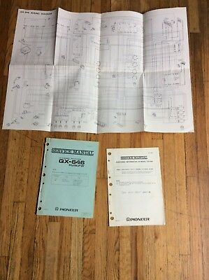 Original Pioneer Service Manual for the QX-646 Receiver ~ mp