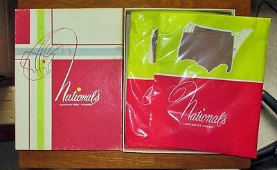 2 NEW Pairs Vintage NATIONAL'S Hosiery Nylon Stockings in Box size C