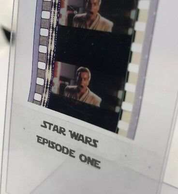 Authentic Star Wars Episode I THE PHANTOM MENACE Film 5-Cells OBI WAN KENOBI