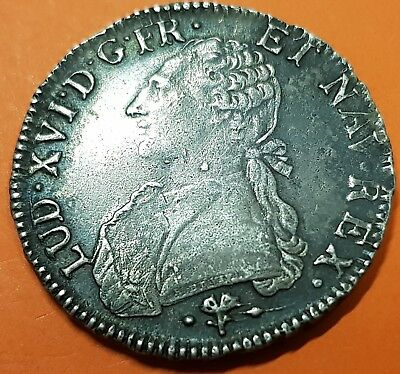 France ECU 1784 L Bayonne Louis XVI Aux branches d'olivier PIECE ROYALE KM.564.9