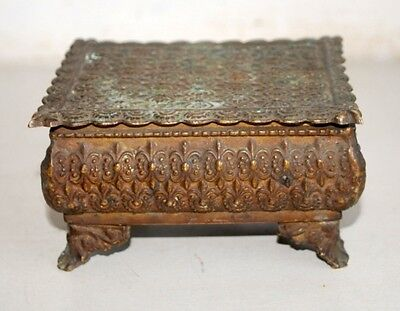 18 C Antique Very Old Rare Islamic Original Brass Box collective