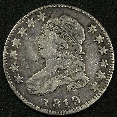 1819 Capped Bust Silver Quarter
