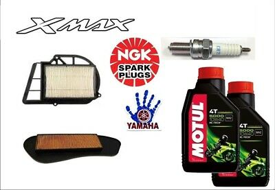 Servicing Yamaha X-Max 250 2007 2008 2009 Xmax Oil Filters + Spark Plug