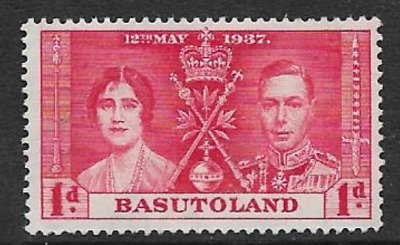 Basutoland - Mint Kgv1 Commemorative Stamp 1937 - Coronation Kgv1