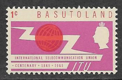 Basutoland - Mint Hinged Commemorative Stamp 1965 - Centenary Of Itu