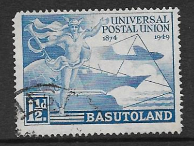 Basutoland - Used Kgv1 Commemorative Stamp 1949 - 75 Years U.p.u.