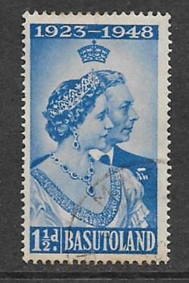 Basutoland - Used Kgv1 Commemorative Stamp 1948 - Silver Wedding Issue