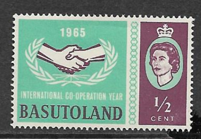 Basutoland - Mint Hinged Commemorative Stamp 1965 - International Year Of Co Op