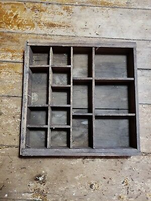Rustic Wooden Parts Tray Wood Box Workbench Toolbench Shop Garage