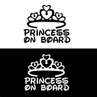PRINCESS ON BOARD Baby Child Window Bumper Car Sign Decal Sticker Hot Sale