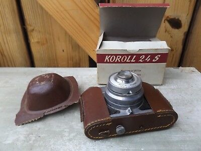 Vintage Bencini Koroll 24S Camera With Case