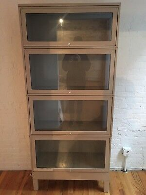 BEIGE Metal Barrister Bookcase- 2 AVAILABLE!!