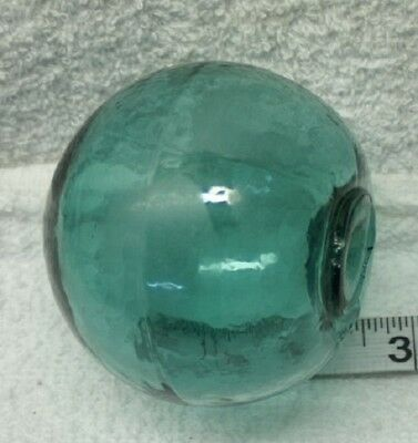 """Authentic Japanese Glass Fishing Float Forest Green 3 1/2"""" OB263"""