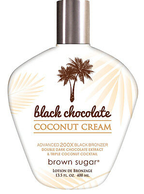 Black Chocolate Coconut Cream Tanning Lotion with 200X Bronzers. NEW