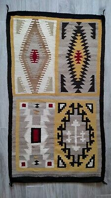 "Navajo Rug...Unique 4 In 1 - 33"" x 57""... very good condition"