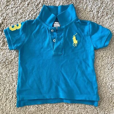 Ralph Lauren Baby Big Pony Bright Blue Polo | Used Excellent Condition | 9months