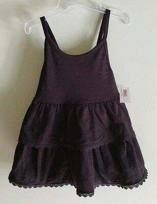 NEW Old Navy Toddler Girls 4T Tiered Babydoll Tank Top BLACK Lace #32119