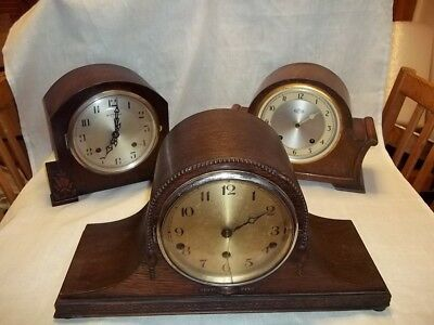 vintage Westminster chime mantle clock& 1 art deco 1 garrard striking clocks
