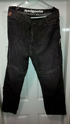 "Red Route Motorbike Jeans Trousers Great Condition Size 34""S Knee Armour Black"