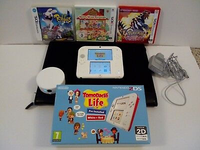NINTENDO 2DS RED/WHITE Loaded with CFW and FreeShop,with