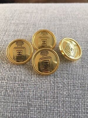 4 Gold Metal Chanel Buttons