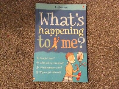 """Usborne """"what's happening to me"""" boys puberty book"""