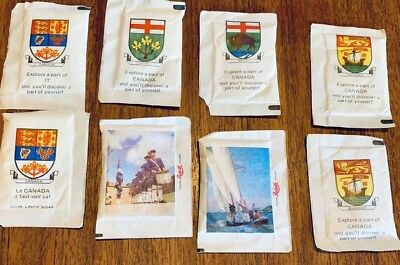 CANADA 1970s Vintage Tourism Advertising Memorabilia- Sugar Packets Lot 8