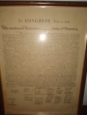 The Declaration Of Independence Collectible with Mister Softee Chain Stamp