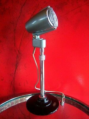 Vintage RARE 1960's Japanese Crown microphone old Aiwa Calrad Sony w desk stand