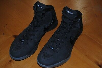 db37bd0d3e57 Men s Nike Zoom Hyperdunk Flywire 2011 Black On Black   Grey Size 12  Basketball
