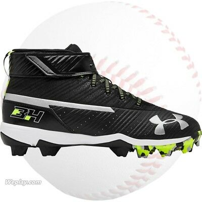 Under Armour Harper 3, Youth Boys Baseball Cleats Shoes, Black 3020600-001 NEW
