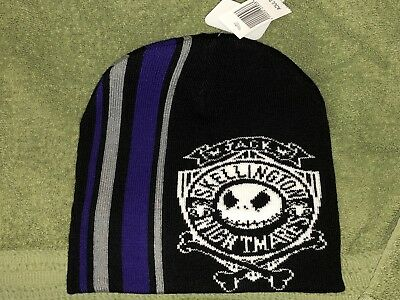 f27a1182a1a NWT Disney Parks Nightmare Before Christmas Jack Skellington Adult Beanie  Hat
