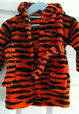 Disney Tigger Baby Robe Dressing Gown With Hood 0-6 months George