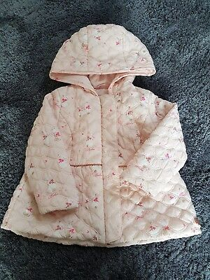 Baby Girls 🎀 TED BAKER 🎀 Pink /Gold Bunny Coat 12-18 months Rrp£45 VGC💗