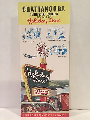 1960s VINTAGE HOLIDAY INN CHATTANOOGA TN SOUTH Hotel Motel Travel Brochure & Map