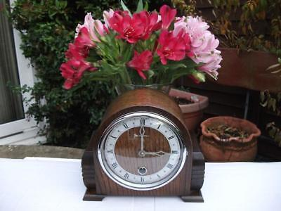 Superb Bentima Petite 8 Day Time Only Mantel Clock C1949-53. Fully Overhauled