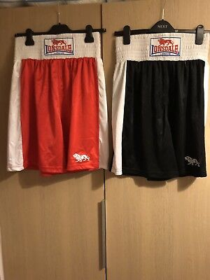 Mens Londsale Boxing Shorts Black/red Size Medium