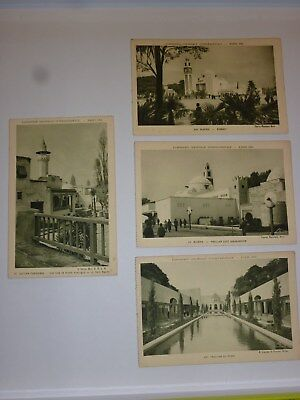 Lot 4 Cartes Postales Exposition Coloniale Paris 1931 - Maghreb