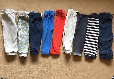 18-24 Months Boys Joggers Trousers & Dungarees Big Bundle (10 Items)