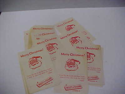 Lot of 18 Vintage Watt & Shand Dept Store SANTA Merry Christmas Hand Out Sheets