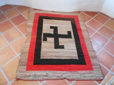 """Navajo Whirling Rolling Logs Icon Blanket  ~ Weaving Approx 51"""" x 65"""""""