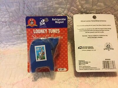 2!Vintage 1999 Looney Tunes Stamp Holder Magnet USPS US Mail Box Post Office NIP