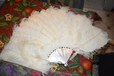 Antique Large Mother Of Pearl Fan +3 others