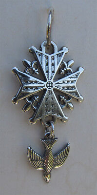HUGUENOT CROSS - sterling silver historic French piece - NEW