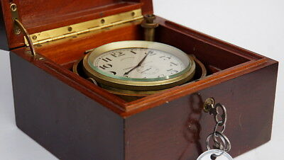 Vintage LONGINES Marine Chronometer mounted in a gimbal and boxed 17j